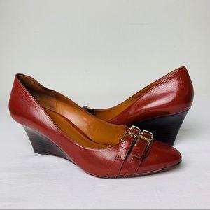 Nine West Leather Zabaar Wedge Heel pointed Toe